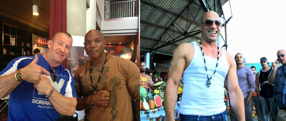1. Flex Wheeler.  2. Vin Diesel in Premiere Fast and Furious 6.