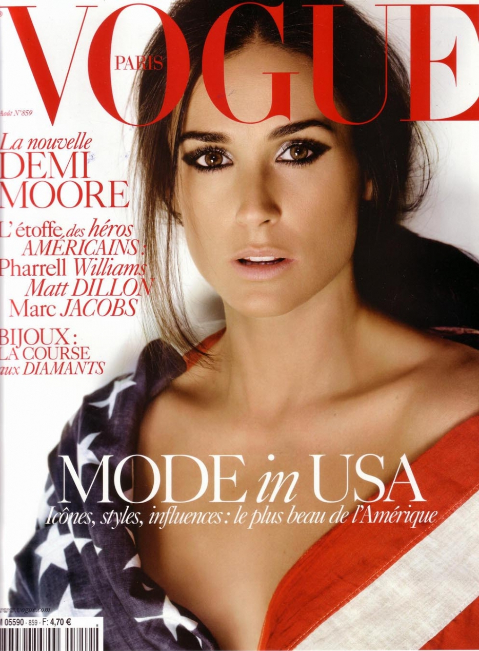 Demi Moore for Vogue Paris August, 2005