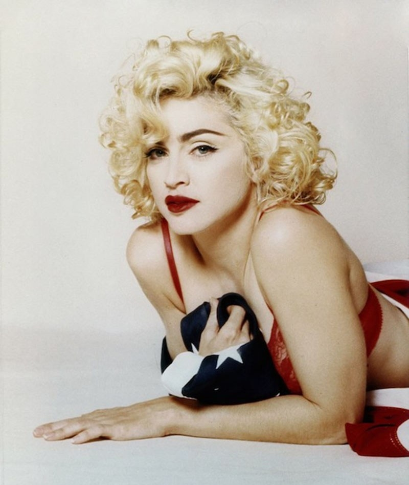 Madonna for Rock the vote, 1990                                                                                                      Photos via: If it's hip, it's here/Vogue.com/Marie Claire/Elle Italy/Google Images