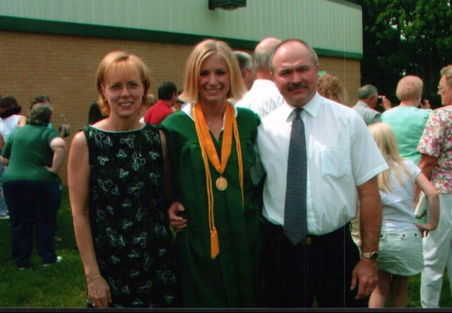 My high school graduation day back in 2005. I think my dad's mustache steals the show on this one.
