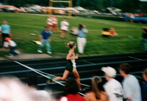 Back in the glory days on the track...