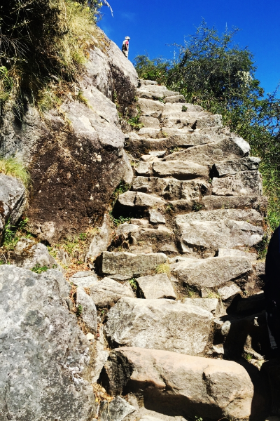 Incan stairs