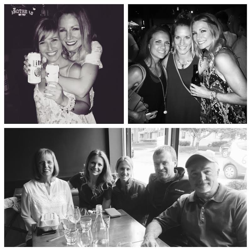 A few of the members of my #squad.  And yes, I do realize I have alcohol in all 3 of these pictures.  Sorry, Mom.