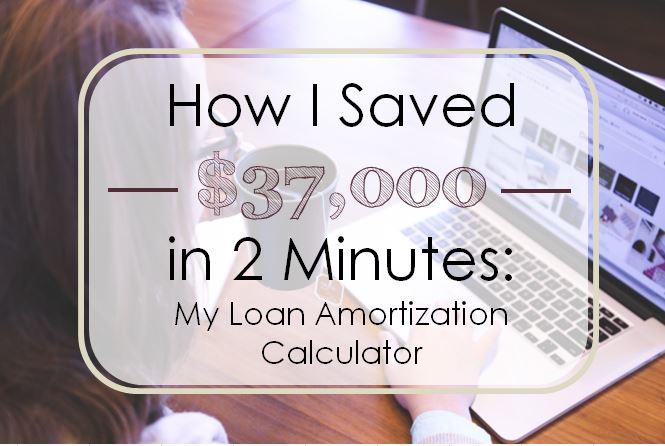How I Saved $37,000 In Two Minutes: My Loan Amortization