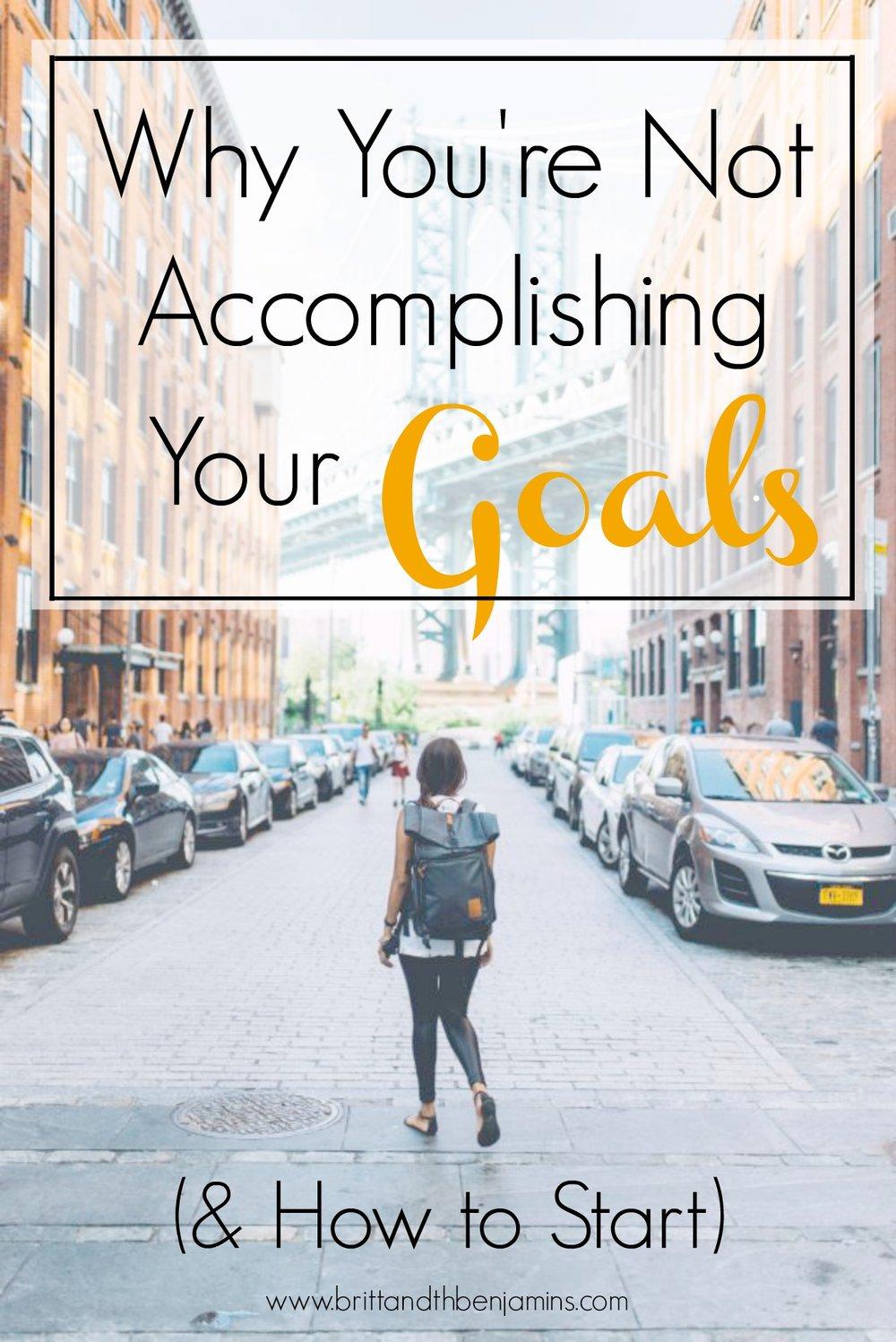 accomplishing your goals