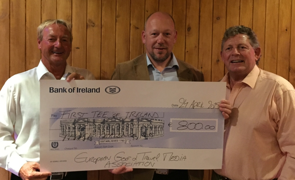 EGTMA donates €800 to the First Tee of Ireland during last year's NWCL Challenge.
