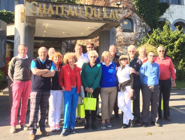 EGTMA delegates assembled in front of the Martin's Hotels Chateau Du Lac in Genval.