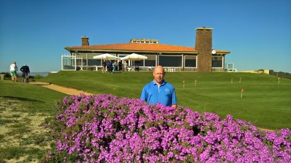 Jo Maes, President of the European Golf & Travel Media Association at Estela Golf Club.