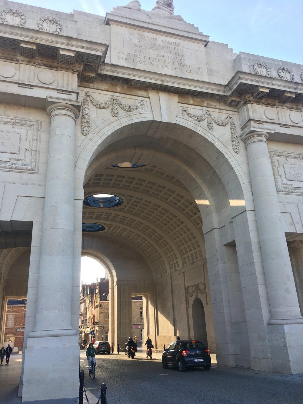 The Menin Gate in Ypres