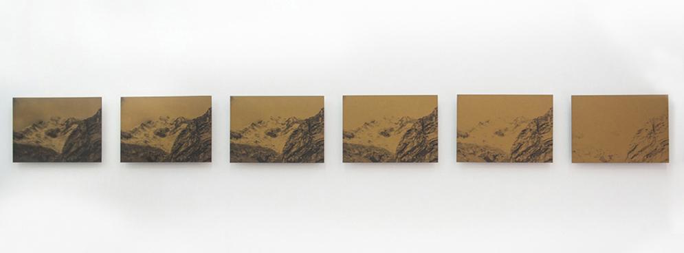 El Dorado, 2016, Fotografía digital intervenida Serie de 12 piezas, 29 x 41 cm c/u