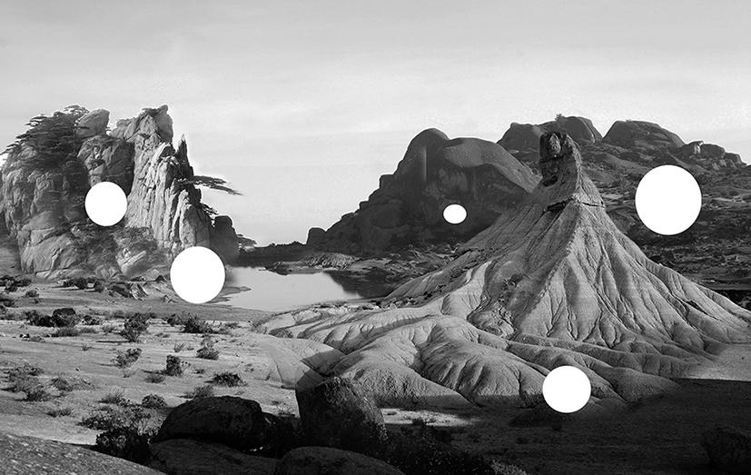 Paisaje imposible, 2016, Fotografía intervenida, 26 x 37 cm