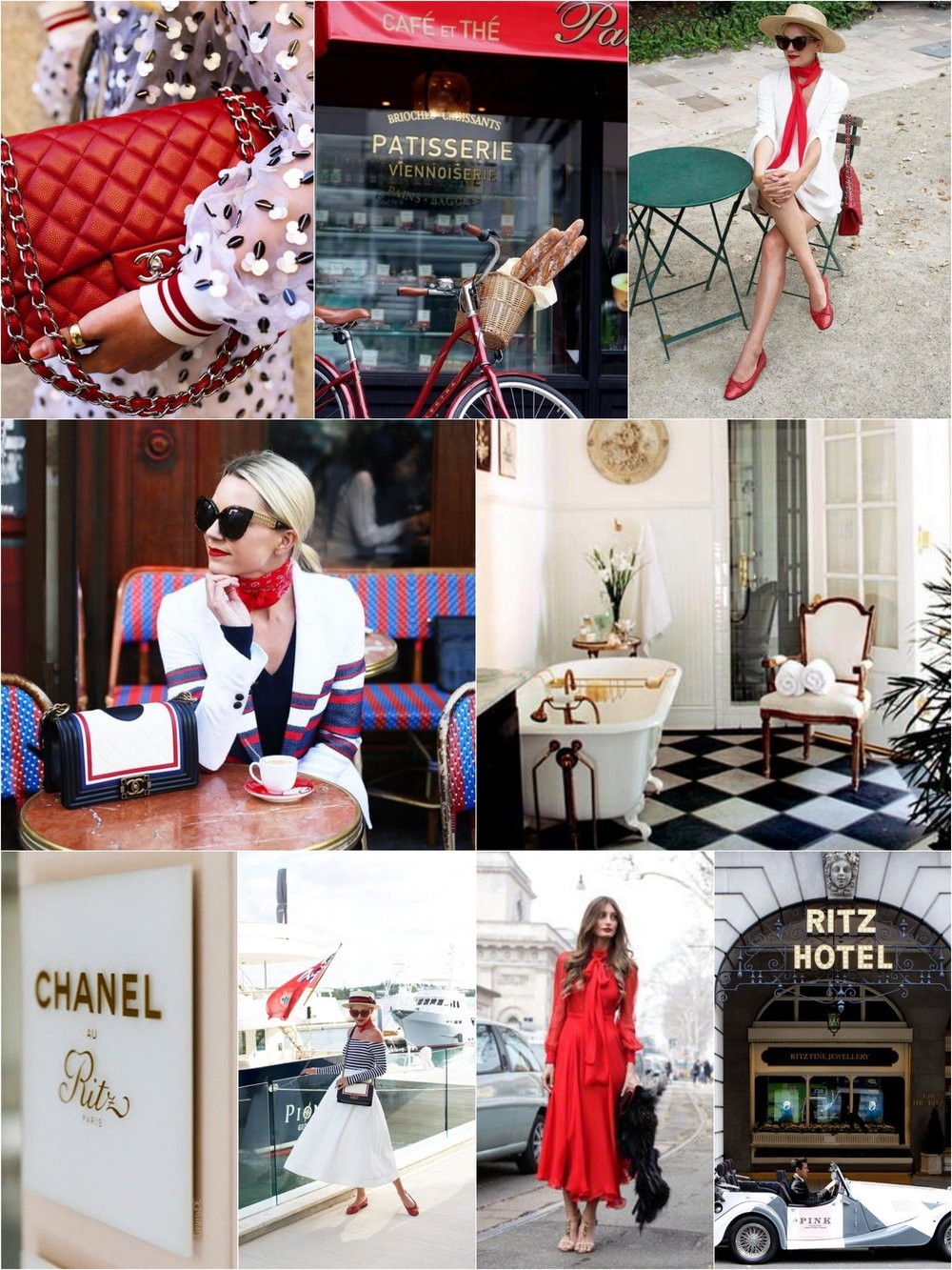 Photos (clockwise from upper left):  Atlantic Pacific  |  Fleaing France  |  Atlantic Pacific  |  House Beautiful  |  Five Star Alliance  |  Chloe Rose Boutique  |  Atlantic Pacific  |  German Vogue  |  Atlantic Pacific  | 2016.
