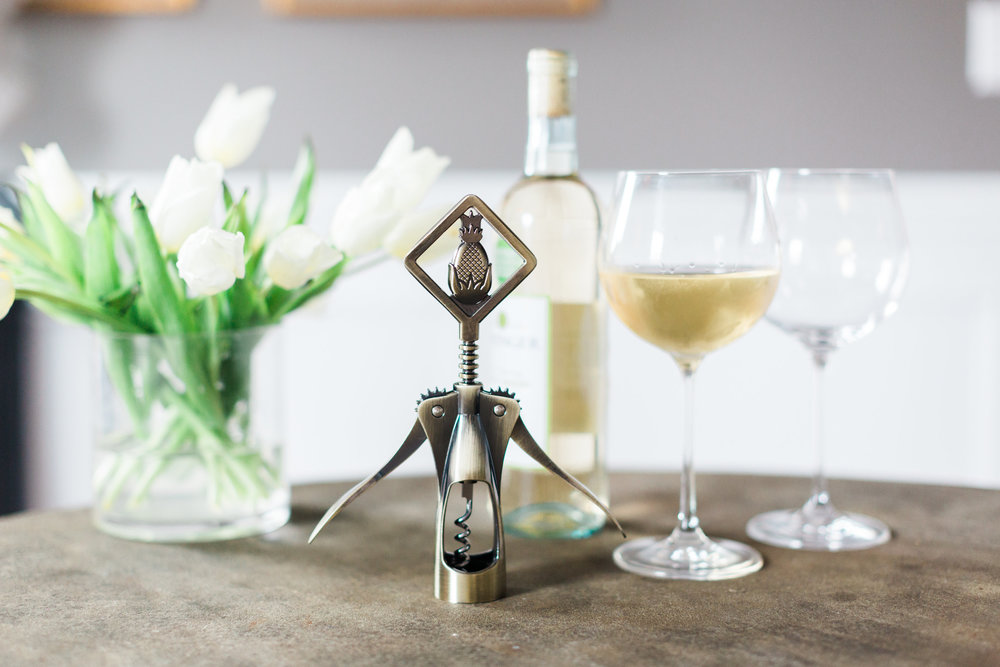 Adorable pineapple wine opener by Greenville Society. 2017.