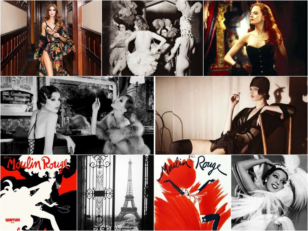 Photo credit (clockwise from upper left): Agent Provocateur // Vintage Everyday // Refinery 29 // German Vogue // Josephine Baker // Vintage Venus // BuzzFeed // Vintage Venus // Little Pawz