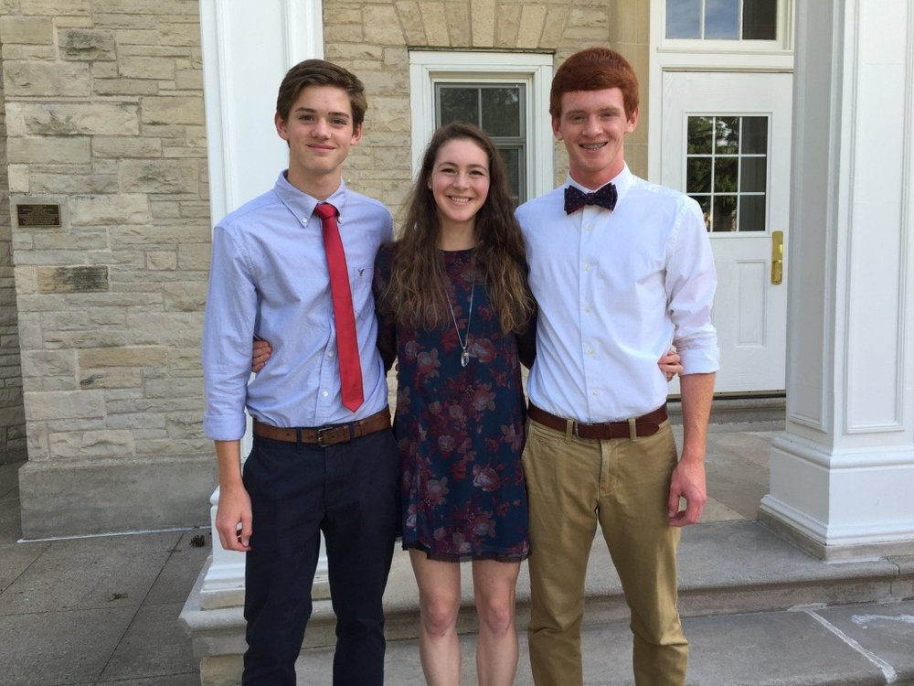Reilly with her two younger twin brothers, Rhys and Rowan, who are Juniors in high school.