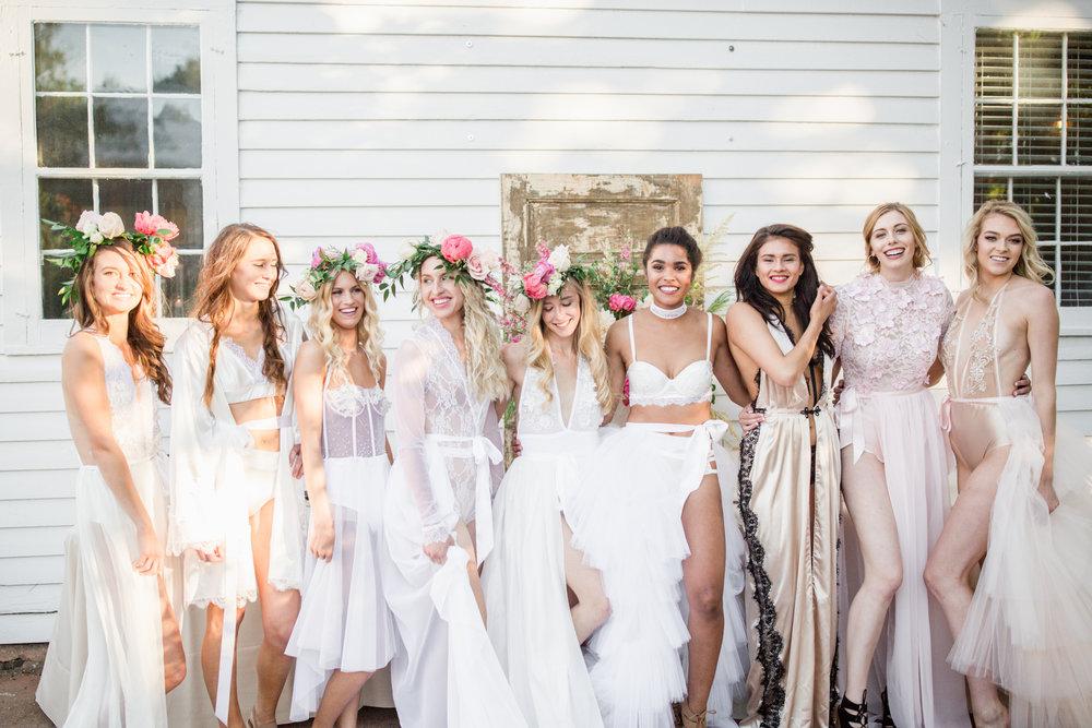 Left to right: Marni Hoest, Sarah Trybula, Lori Gibb, Natalie Mizgalski, Kara Mueller, LaKish'a Sutton, Sonia Weber, Victoria Dior, and Nicole Petrie.