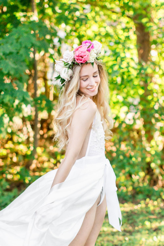 Kara Mueller looking exquisite while she twirls in her silk habotai skirt.