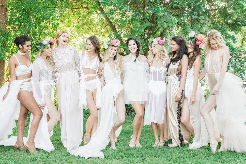 Left to right: LaKish'a Sutton, Natalie Mizgalski, Victoria Dior, Sarah Trybula, Kara Mueller, Madalyn Manzeck, Lori Gibb, Sonia Weber, Marni Hoest, and Nicole Petrie.