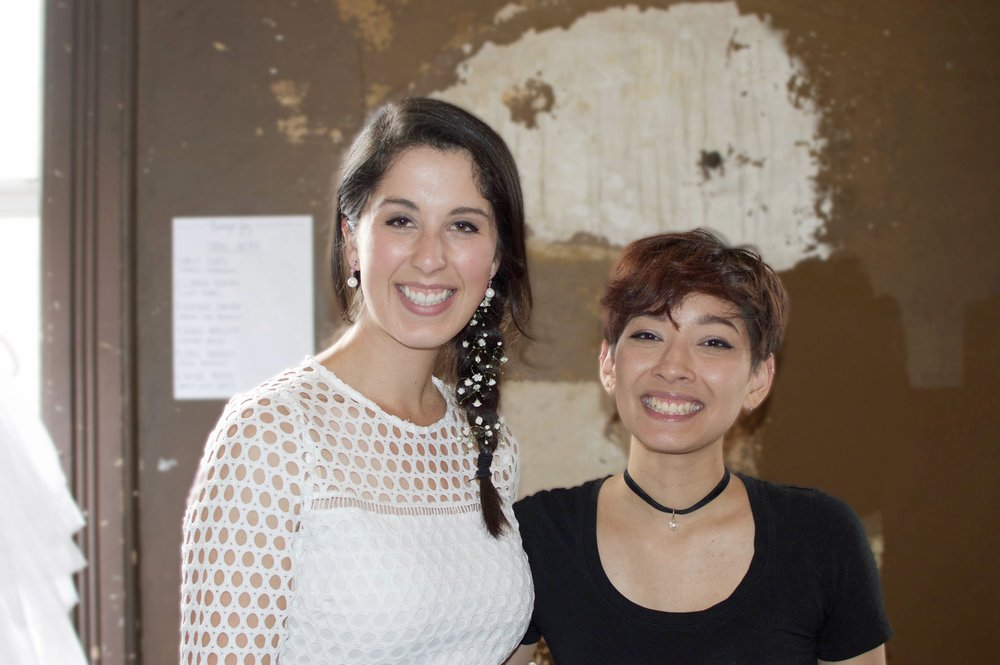 Madalyn Manzeck and Vanali Phanthavong backstage at the Walk Fashion Show at Turner Hall Ballroom on July 9th.