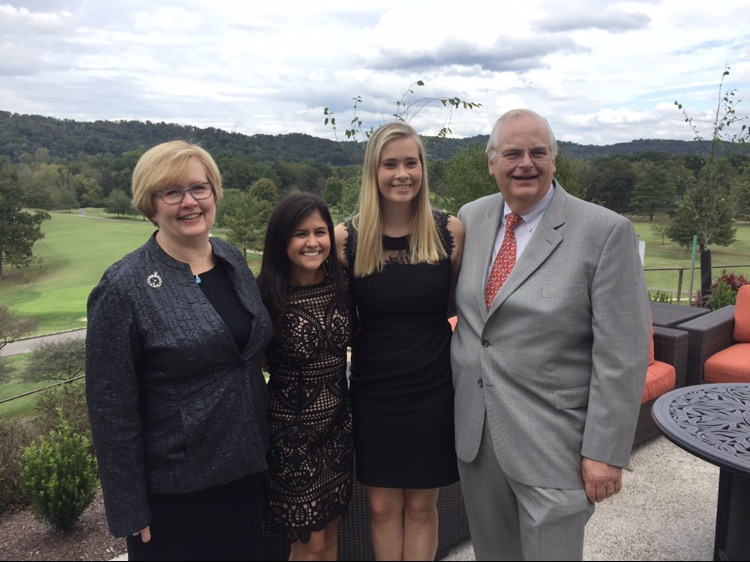 Claire and her family in West Virginia, her dad's hometown.