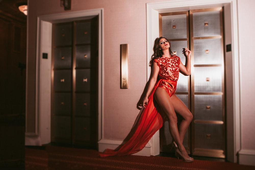 Danika Tramburg wearing Madalyn Joy Designs photographed by Tif Cohen in Milwaukee, WI. 2017.