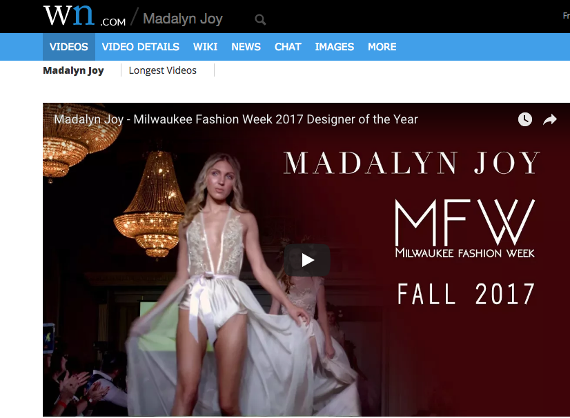 WORLD NEWS - The incredible designs of Madalyn Joy on display at Milwaukee Fashion Week.WATCH HERE