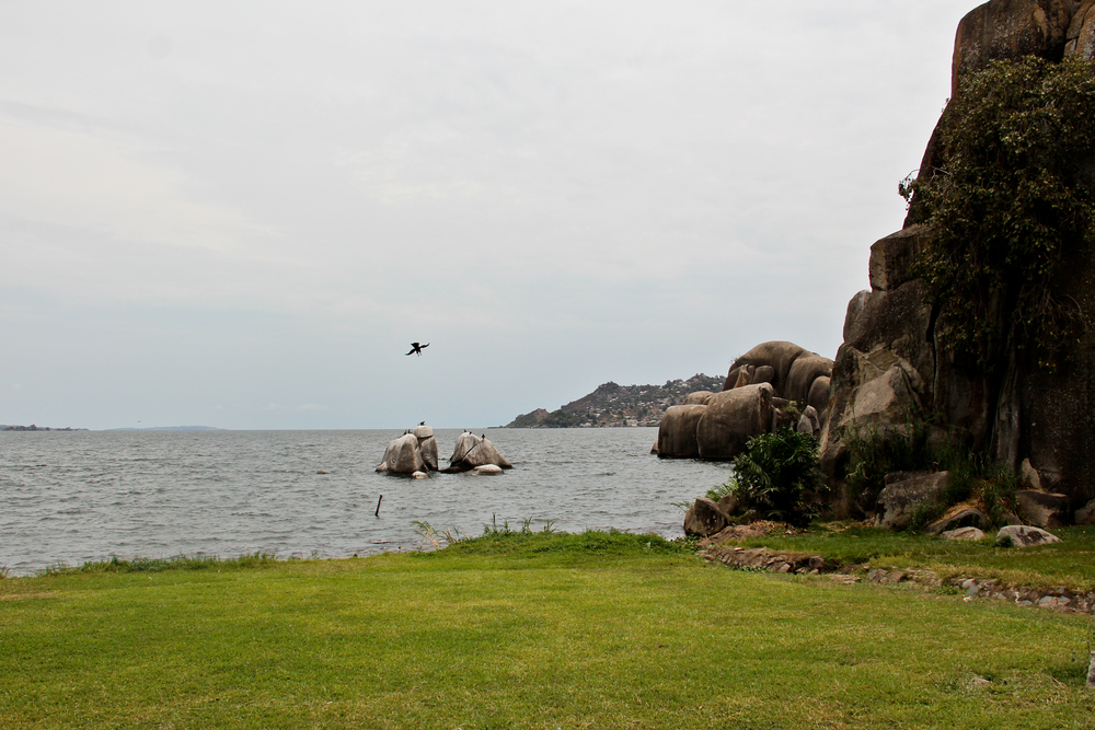 On the shores of Lake Victoria.