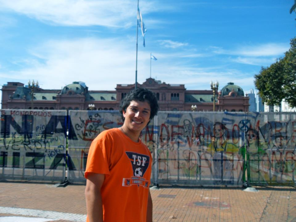 TSF Member Javier Gillette at the Pink House in Argentina