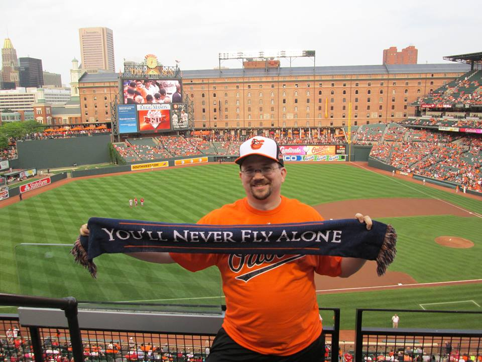 TSF Member Matt Beeman at Camden Yards, Baltimore