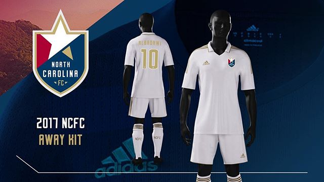 Is there anything more classy and traditional than an all-white change strip? We love North Carolina FC's 2017 away kit! #ncfc