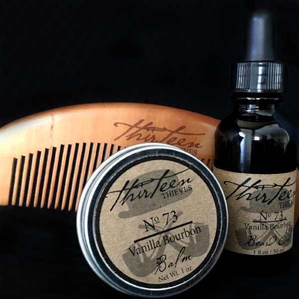 thirteen thieves Beard kit with comb