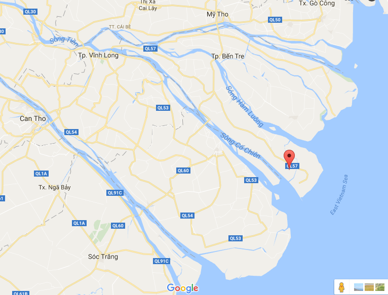 -CảMép (An Nhơn) on Google Map.png