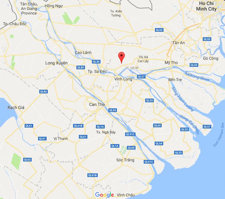 Mỹ Đức Đông, Cái Bè, Tiền Giang (arrow).png