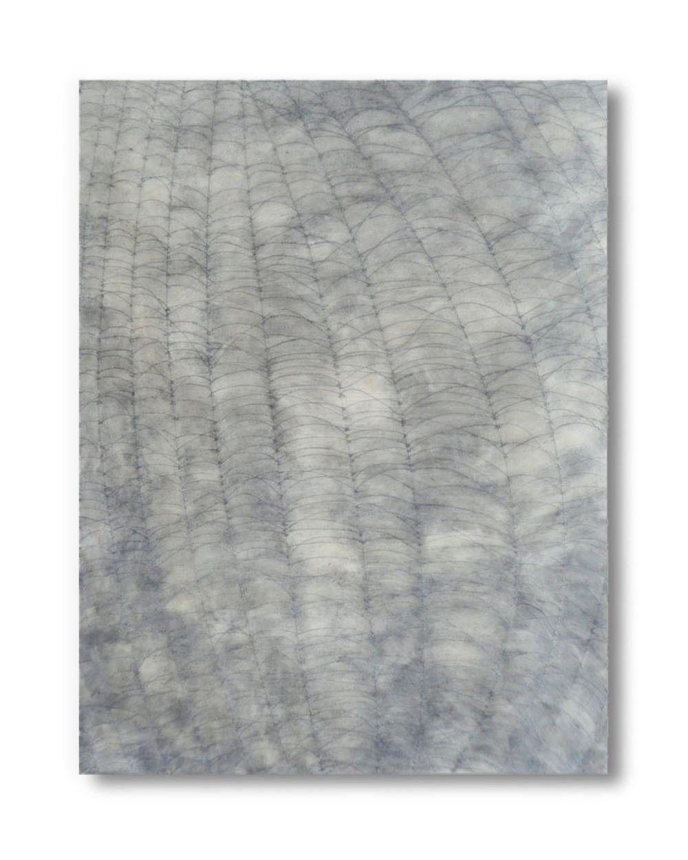 "Line Weave, 2013 Encaustic, Oil 16"" x 20"" SOLD"