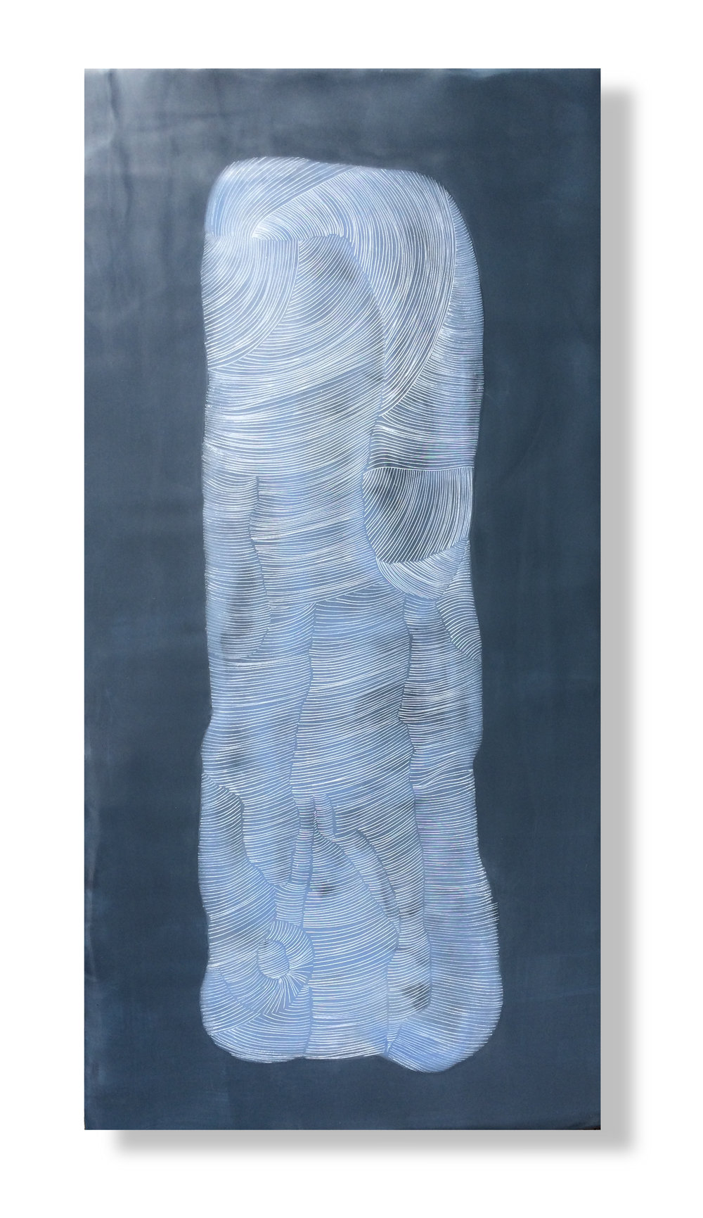 "Monolith, 2015 Encaustic, Oil 12"" x 24"" x 1"""