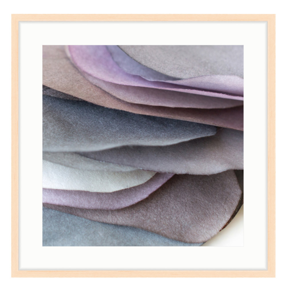 """Paper Petal 1, 2017 20"""" x 20"""" (other sizes available) Photograph of Mulberry Paper, Wax, Watercolor"""