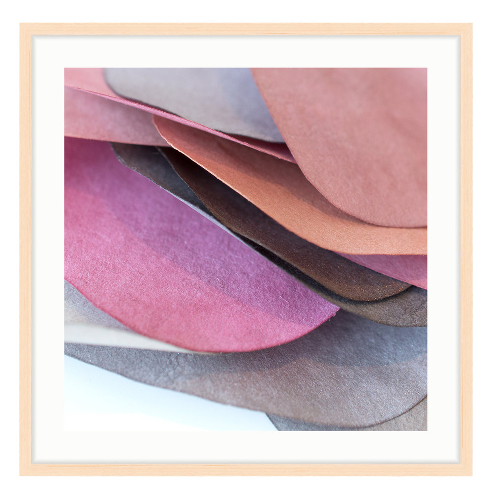 """Paper Petal 5, 2017 20"""" x 20"""" (other sizes available) Photograph of Mulberry Paper, Wax, Watercolor"""