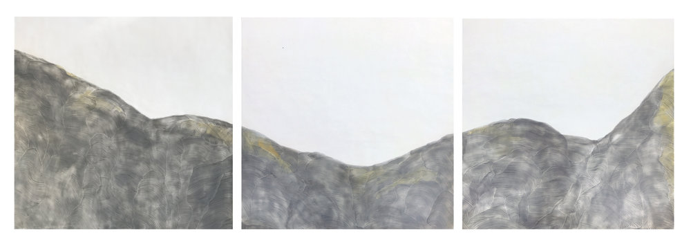 "DIFT 7, 2017 Encaustic, Oil 102"" x 34"" x 1.5"" Commission for Health Care Center"