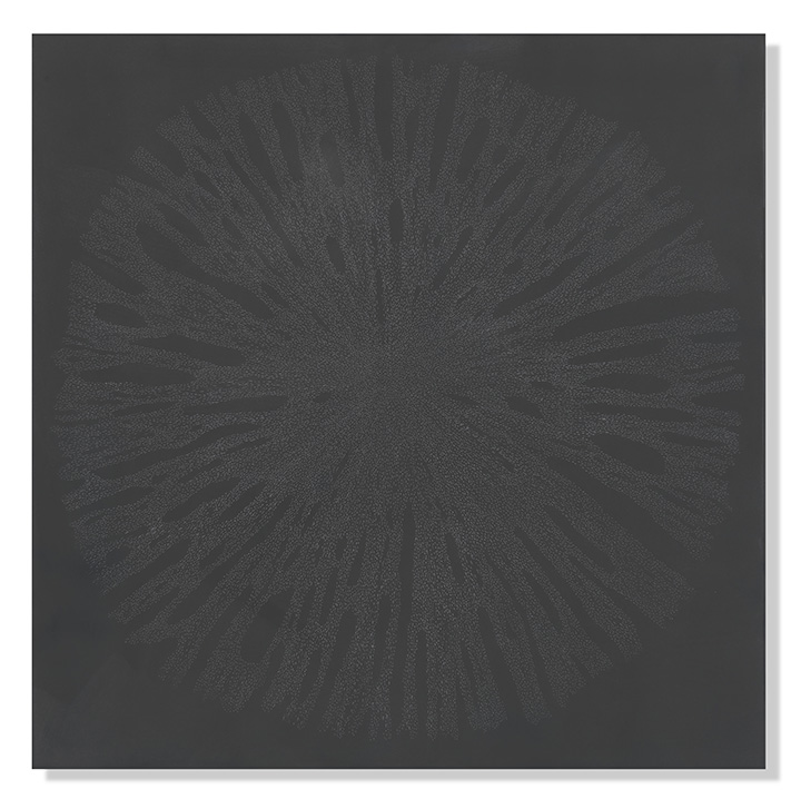 "Dark Matter 9, 2018 Encaustic, Oil 20""x20"""