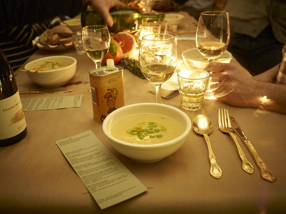 Gustiamo warehouse break-in dinner | photo by  Andrew T. Warman  @mrwarman
