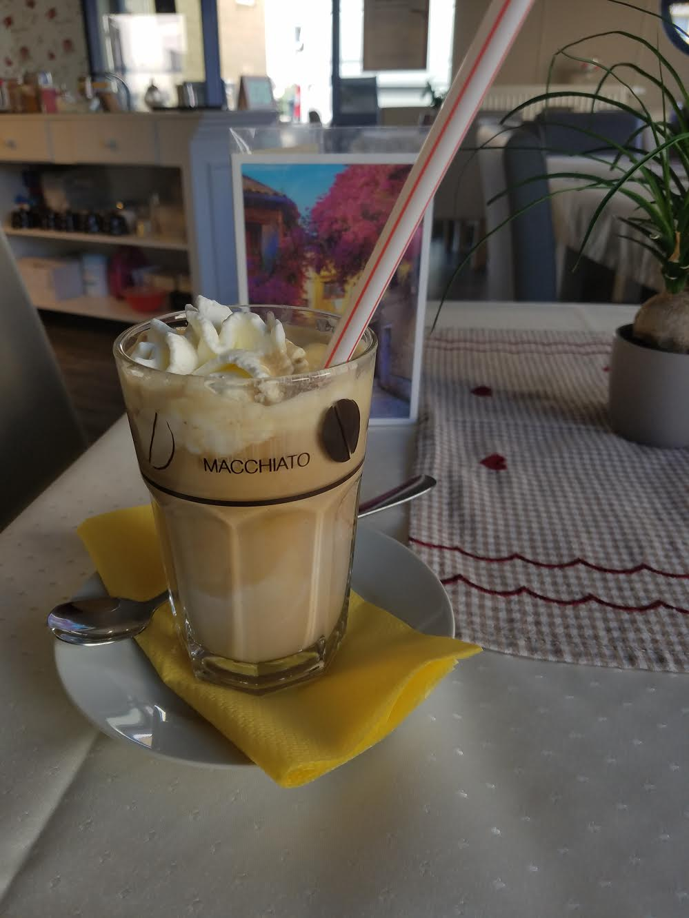 If you want a cold coffee in Germany, it comes with a scoop of ice cream in it. Not a bad deal!