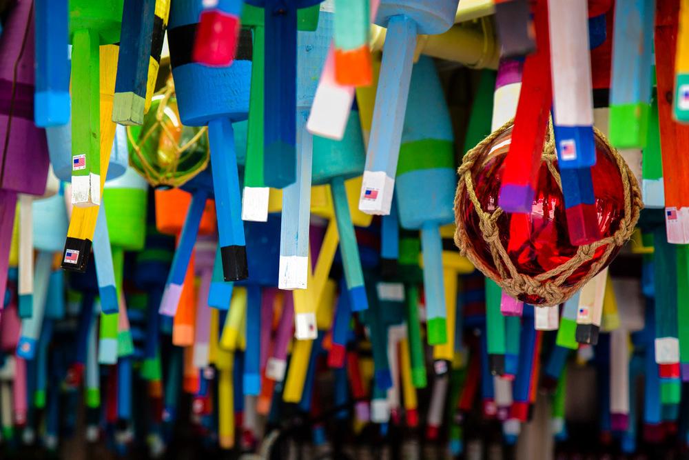 Colorful Buoys Ogunquit, Maine