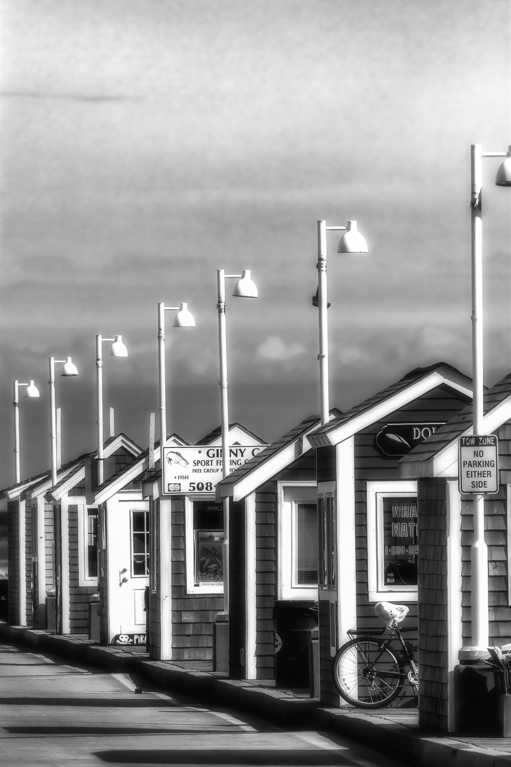 Shacks-In-Line-On-Pier-BW.jpg