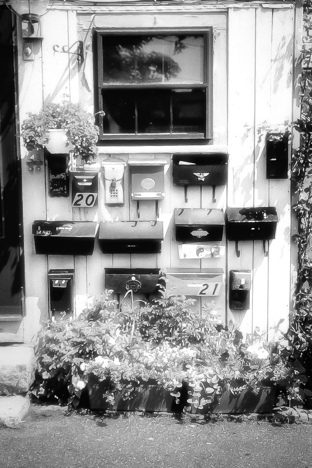 Mailboxes-On-Building-Wall-Rockport-BW.jpg