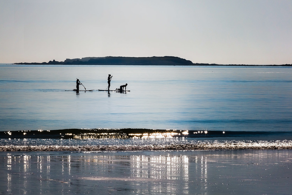 Morning Paddleboarders Sacco Bay, Maine
