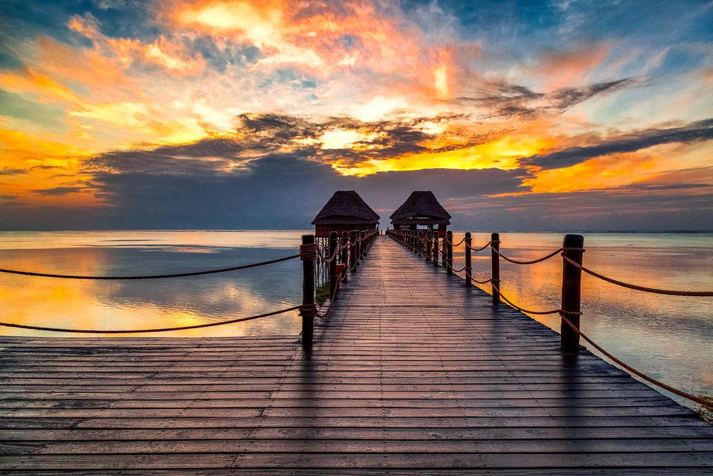Indian Ocean Sunrise Zanzibar, Tanzania