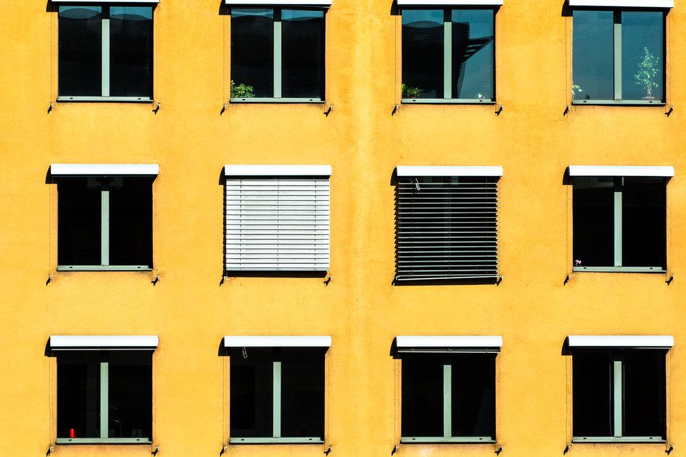 Wall Of Windows Budapest, Hungary