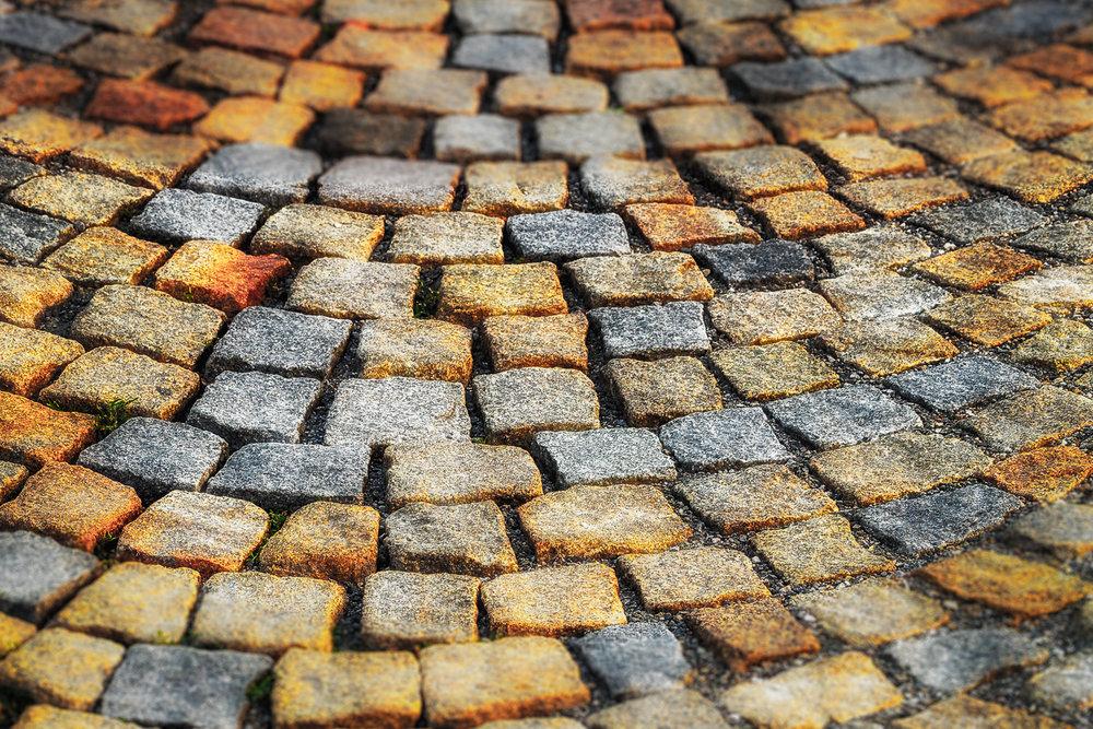 Colored Cobblestones Regensburg, Germany