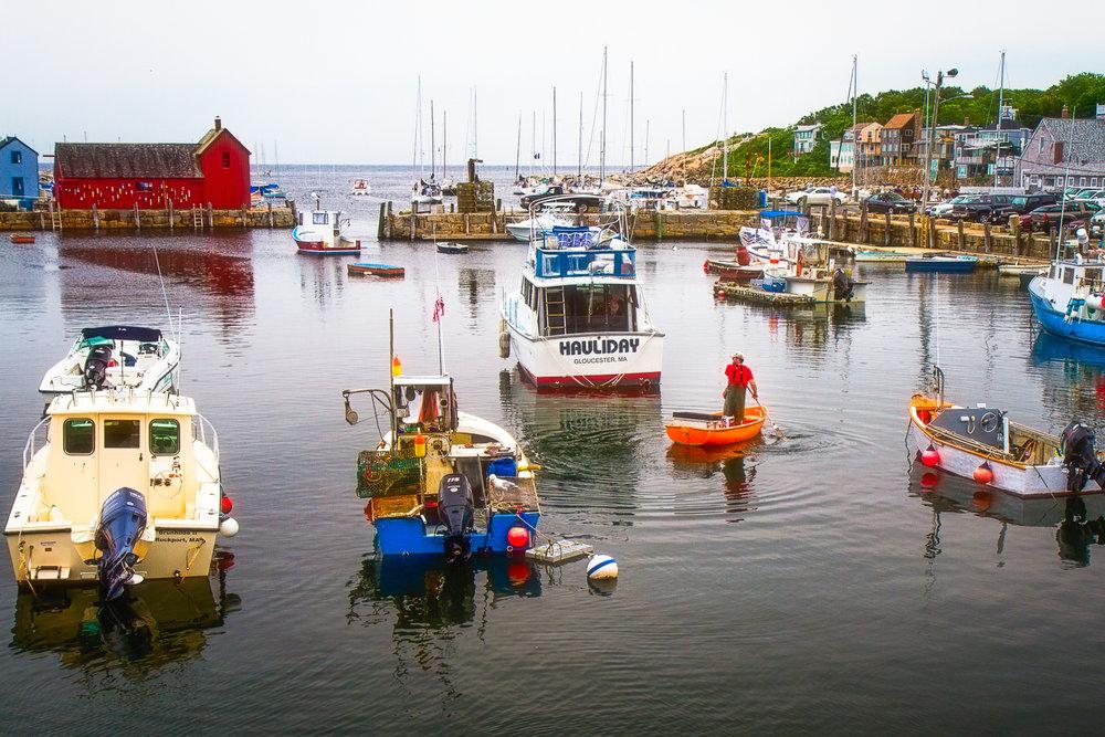 Rowing To Work Rockport, Massachusetts