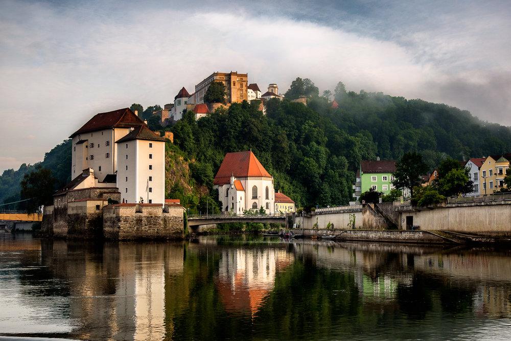 Passau Reflected Passau, Germany